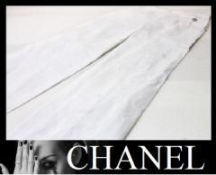 ★シャネル 09P ワイドパンツ ホワイト コットン100%★