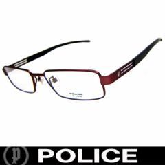 POLICE ポリス だてめがね 眼鏡 伊達メガネ サングラス V8228J RD5 国内正規代理店商品 定価19950円 (9)