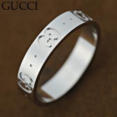 グッチ 073230-09850/9000 リング 指輪 GUCCI  K18WG ホワイトゴールド/073230-09850 /import
