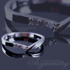 ピンキーリング 指輪 レディース リング ジルコニア シルバー エレガント シンプル 上品 きらきら アクセサリー