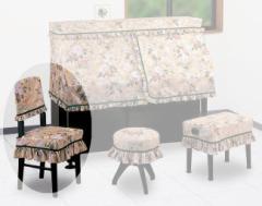 甲南 ピアノ高低椅子カバー(背もたれタイプ)ブルージュ【サンプルお届け】