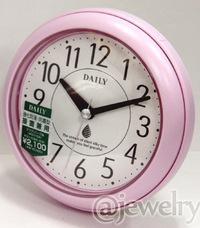 ◆バスクロック[リズム時計]*防水防塵*掛置兼用時計【アクアパーク】ピンク 4KG711DA13/4KG711DN13