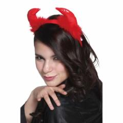 フワフワレッドデビル デビル 悪魔 ツノ カチューシャ 小物 コスプレ コスチューム 衣装 仮装 ハロウィン パーティー イベント