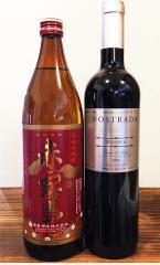 【宅】赤霧島 1350円とノストラーダ シルバーラベル レセルバ 750ml 赤ワイン