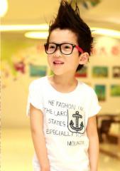 【メール便送料無料】春新作男の子子供服英字プリント半袖Tシャツ