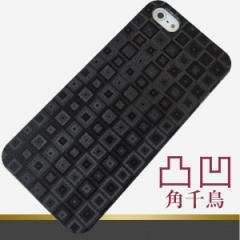 凸凹 スマホケース【493 角千鳥(クリア・ブラック)】iPhone5c/iPhone5s・5/SOL22/HTL22/Galaxy S4/SO-04Eなどに対応