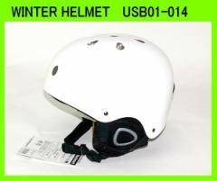 スノーボード、スキーヘルメット大人用UNIX USB01-014◆WHITE◆ウィンターヘルメット