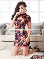 チャイナドレス ドレス 花柄 コスプレ コスチューム SALE SEXYコスプレ 1001