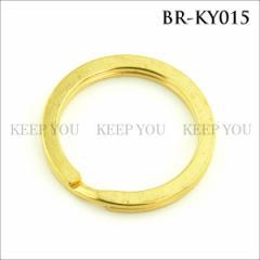 メール便 送料無料 真鍮 パーツ 二重リング 直径30mm 1個 アンティークゴールド【ウォレットチェーン BRASS ブラス】BR-KY015 ┃