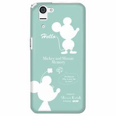 【Disney/ディズニー】 ミッキー&ミニー (シルエット) AQUOS PHONE SERIE SHL23 ケース/カバー (shl23-7988)