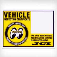 【ムーンアイズ】【MOON EYES】 JCIステッカー 普通車用 車検ステッカーをかっこよく!