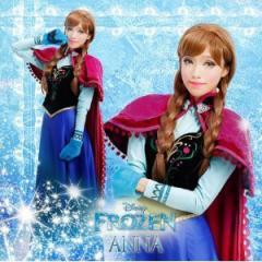 ディズニー  アナと雪の女王 アナ Anna 風 衣装 +マント+手袋  コスプレ クリスマス  ハロウィン イベント仮装 オーダーサイズ可能