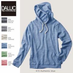 裏毛(パイル)で着やすさ抜群☆プル パーカー #DM105 ダルク DALUC swet