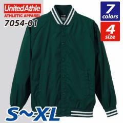 昔ながらのデザインと今風エッセンス☆ナイロンスタジアムジャケット(S〜XL) /ユナイテッドアスレ UNITED ATHLE #7054-01 oute