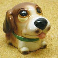 陶器製 わんちゃん灰皿 犬 いぬ イヌ ドッグ 置物 雑貨(ビーグル)♪