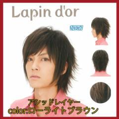 【Lapin dor】 ラパンドアール メンズウィッグ アシッドレイヤー ローライトブラウン 5791