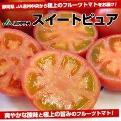 静岡県より産地直送 JA遠州中央 フルーツトマト「スイートピュア」 Lサイズ (9玉) 約1キロ