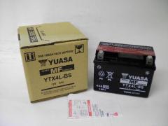 YUASA ユアサ YTX4L-BS充電済 リトルカブ ジャイロX アドレスV50G ジャイロアップTA01チョイノリRG250γ バイクバッテリー