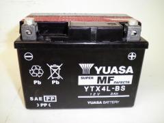 YUASAユアサYTX4L-BS充電済スーパーカブ50 NSR250R FTR25 0レッツ4 互換YT4L-BS FTH4L‐BS バイクバッテリー