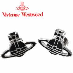 ヴィヴィアンウエストウッド Vivienne Westwood ピアス ヴィヴィアン ケイトピアス ブラック×シルバー