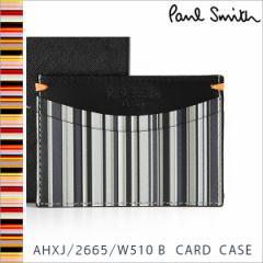 ポールスミス カードケース Paul Smith メンズ レザー ブラック系マルチストライプ AHXJ/2665/W510 B