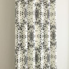 カーテン 北欧柄 セリーブラック 幅100cm×丈110cm2枚 遮光カーテン tdos7552