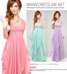 【4サイズ】エレガントシルエ シフォンドレープロングドレス キャバ XLサイズ 大きいサイズ