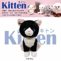 【人気ネコたち大集合!】 Kitten キトン ぬいぐるみ Sサイズ ハチワレ P7581 猫 ネコ ねこ CAT 雑貨 サンレモン