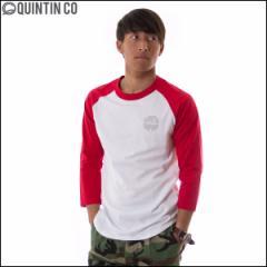 Quintin クインティン Tシャツ メンズ ラグラン 七分袖 Sour レッド