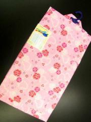 ★9〜10歳女子用子供浴衣★ピンク地に小バラ柄no206