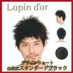 【Lapin dor】 ラパンドアール メンズウィッグ デザインショート スタンダードブラック 5776
