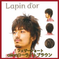 【Lapin dor】 ラパンドアール メンズウィッグ フェザーショート ローライトブラウン 5662