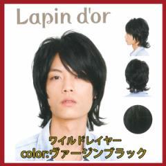【Lapin dor】 ラパンドアール メンズウィッグ ワイルドレイヤー ヴァージンブラック 5781