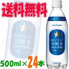 特売【送料無料】ポッカサッポロ おいしい炭酸水[純水使用]  500ml 1ケース(24本) 【イーコンビニ】