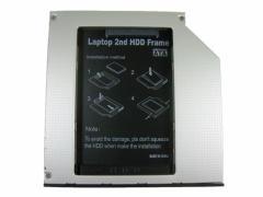 ノートパソコン光学ドライブベイ用HDD・SSDマウンタ SATA接続 9.5mm厚 「メール便可」