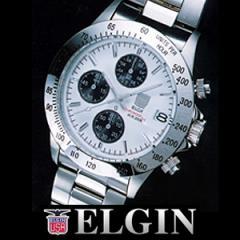 送料無料ELGINクロノグラフ ダイバーウォッチ ホワイト FK1184S-W◆エルジン腕時計/メンズ腕時計/男性用/ダイバーズウォッチ