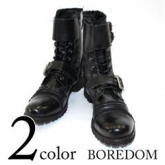 BOREDOM(ボアダム)ビンテージ風レースアップブーツ