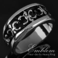 クラシカルに装う!『風格を感じさせる★アイリス柄デザインリング』メンズ 指輪 アクセサリー