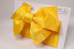 【日本製】簡単着付け!子供用 浴衣 結び帯 作り帯 黄トンボ