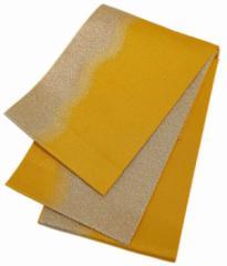 日本製 キラキラ光る 浴衣帯 メタル ゴールド×イエロー
