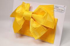 【日本製】簡単着付け!子供用 浴衣 結び帯 作り帯 黄蝶々
