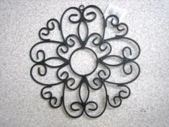 ★アイアン製ウォールデコ・S フラワー・62404 壁掛け飾り カントリー雑貨