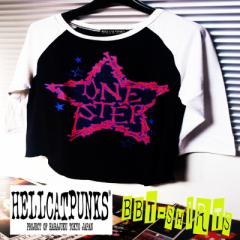 HELLCATPUNKS☆ラグランBBTシャツ☆