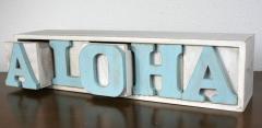 ハワイアン雑貨/インテリア/ハワイ 雑貨 ハワイアン☆ALOHA ロゴ 小物入れ 【ハワイ お土産】