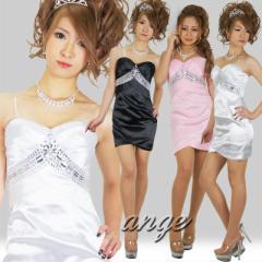 SD1205-210/胸元ビジュサテンーミニタイトセクシードレス