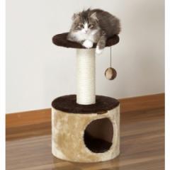キャティースクラッチ リビング コンパクトルーム (キャットタワー) ドギーマン■爪磨きつき愛猫用小型タワー キャットファニチャー