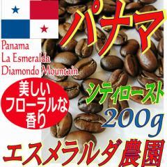 【レギュラー珈琲豆】パナマ ラ・エスメラルダ農園 ダイヤモンドマウンテン 200g/シティ/ティピカ・ブルボン種