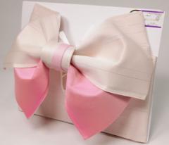 日本製 グラデーション リバーシブル ラメ入り 浴衣 浴衣帯 作り帯 白×ピンク