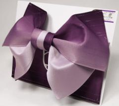 日本製 グラデーション リバーシブル ラメ入り 浴衣 浴衣帯 作り帯 結び帯 紫×パープル
