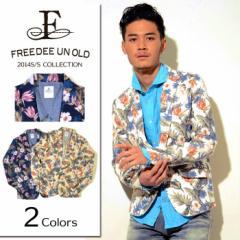 SALE [送料無料]FREEDEE UN OLD【フリーディー】花柄 テーラード ジャケット /全2色(ホワイト/ネイビー) メンズ